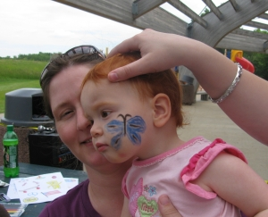 Belle face painting