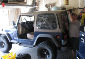 Hubby and Jeep
