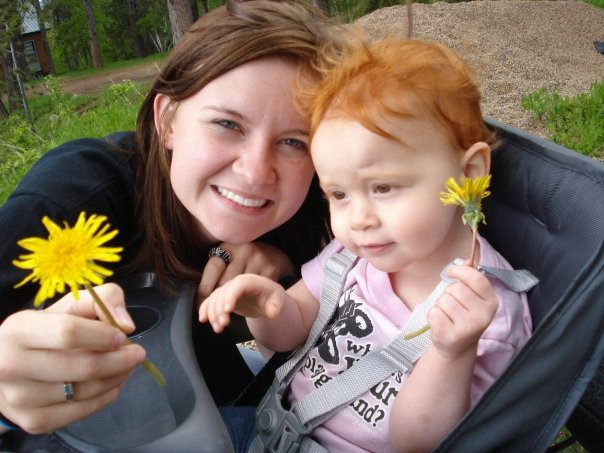 princess and belle with flower