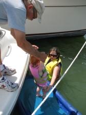 2-belle getting in water