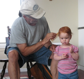 papa fixing belles hair 2