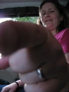 big finger pointing