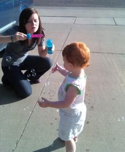 hols blowing bubbles