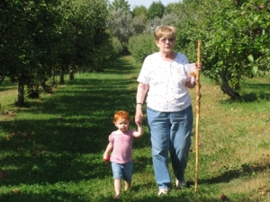 angel and Grama walking