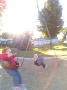 kids swinging