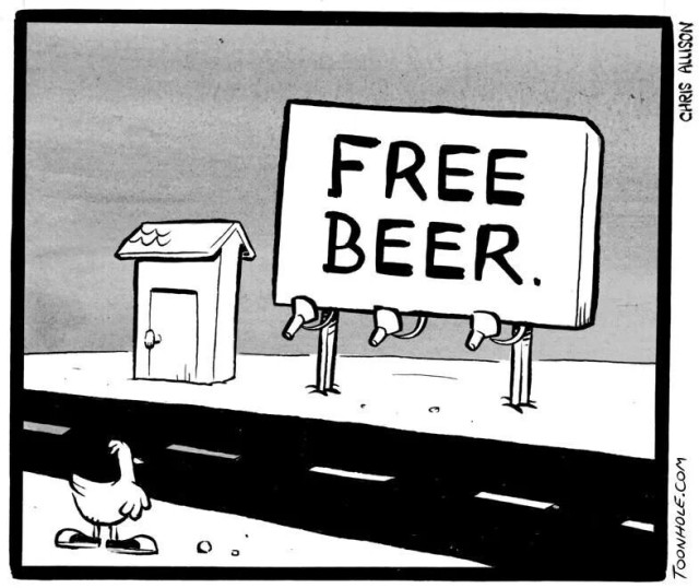 chicken free beer