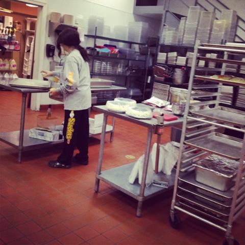 nellie in kitchen